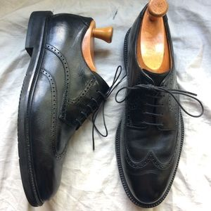 Rockport Dessport wing tips black shoes 8.5 W